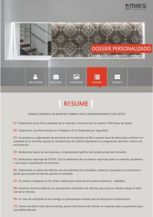 Mies inmobiliaria - Resume