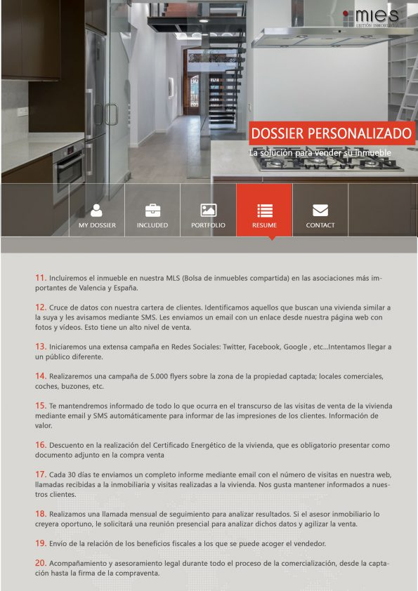 Mies inmobiliaria - Resume more